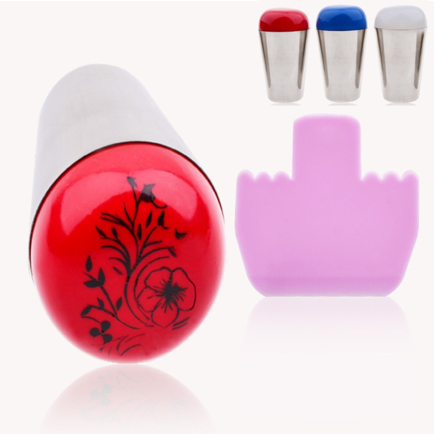 1Pcs New 4cm Marshmallow Nail Art Stamper Big Stamper Professional Squishy Refill Stamping <br><br>Aliexpress