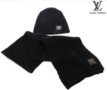Two-piece set of warm hat scarf Men and women fashion warm in the winter to keep warm scarf Free shipping(China (Mainland))