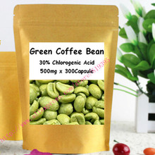 Weight Loss Supplements High Quality  Green Coffe Bean Extract 30% Chlorogenic Acid Caps 500mg x 300pcs Eating Food Supplement