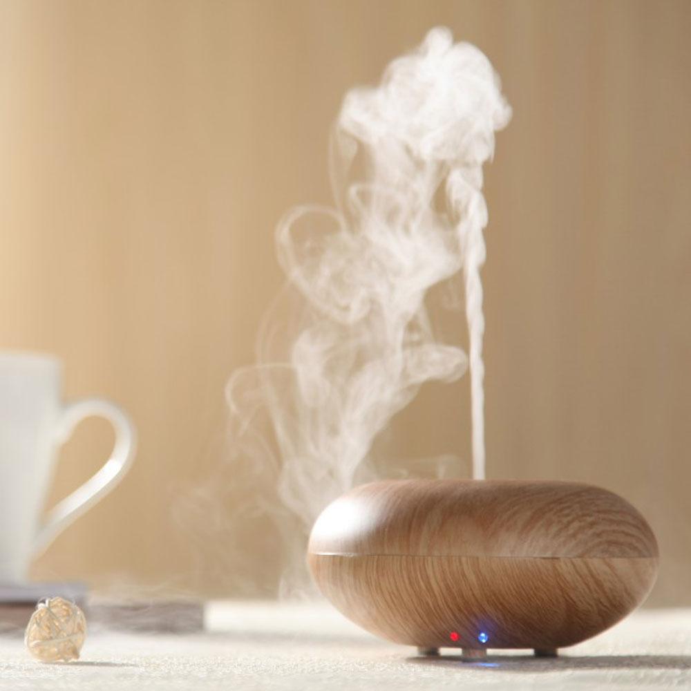 difusor de aroma 12W Nebulizer Wood Grain Ultrasonic Air Humidifier Aroma Diffuser Aromatherapy Office Purifier Mist Maker(China (Mainland))