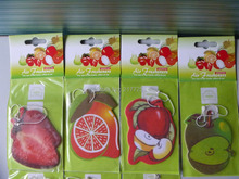 (10 pieces/lot) Fruit air fresheners Hot Products New Products Car air freshener Mixed variety of patterns(China (Mainland))