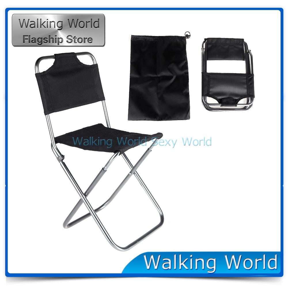 Aluminum Folding Portable Stool Chair Bag Outdoor Travel Fishing Equipment Fishing Chair Camping Encampment Backrest Campstool(China (Mainland))