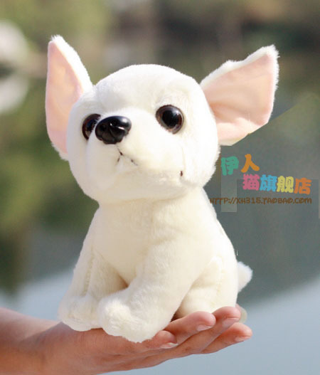lovely chihuahua dog toy white puppy doll about 20cm , baby toy C1(China (Mainland))