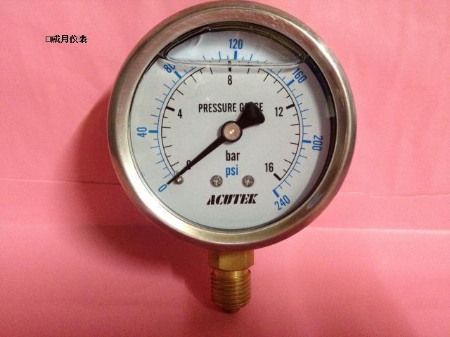 ACUTEK oil-filled shock pressure gauge YN60 1000bar G1/4B(full specifications)