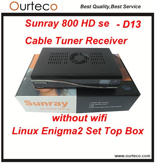 Fast DHL Free Shipping Sunray800SE HD Cable Tv Receiver D13 Linux OS Enigma2 box sim2.10 with wifi(China (Mainland))