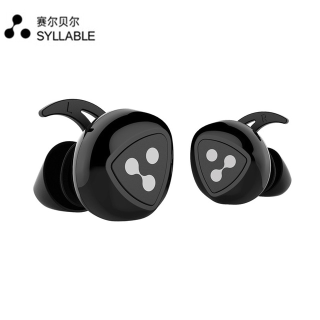 Syllable D900 Sports Headset Wireless Bluetooth 4.0 Headset With Android / iOS / flat black / white charging station(China (Mainland))