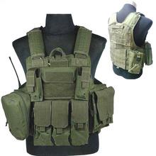 Tactical vest military Law Enforcement SWAT Vest plate carrier airsoft vest Sportsman navy seal assault vest coyote 3d camo(China (Mainland))
