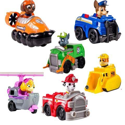 Delivery paw patrol dog toys 6 style paw patrol car action figure toy