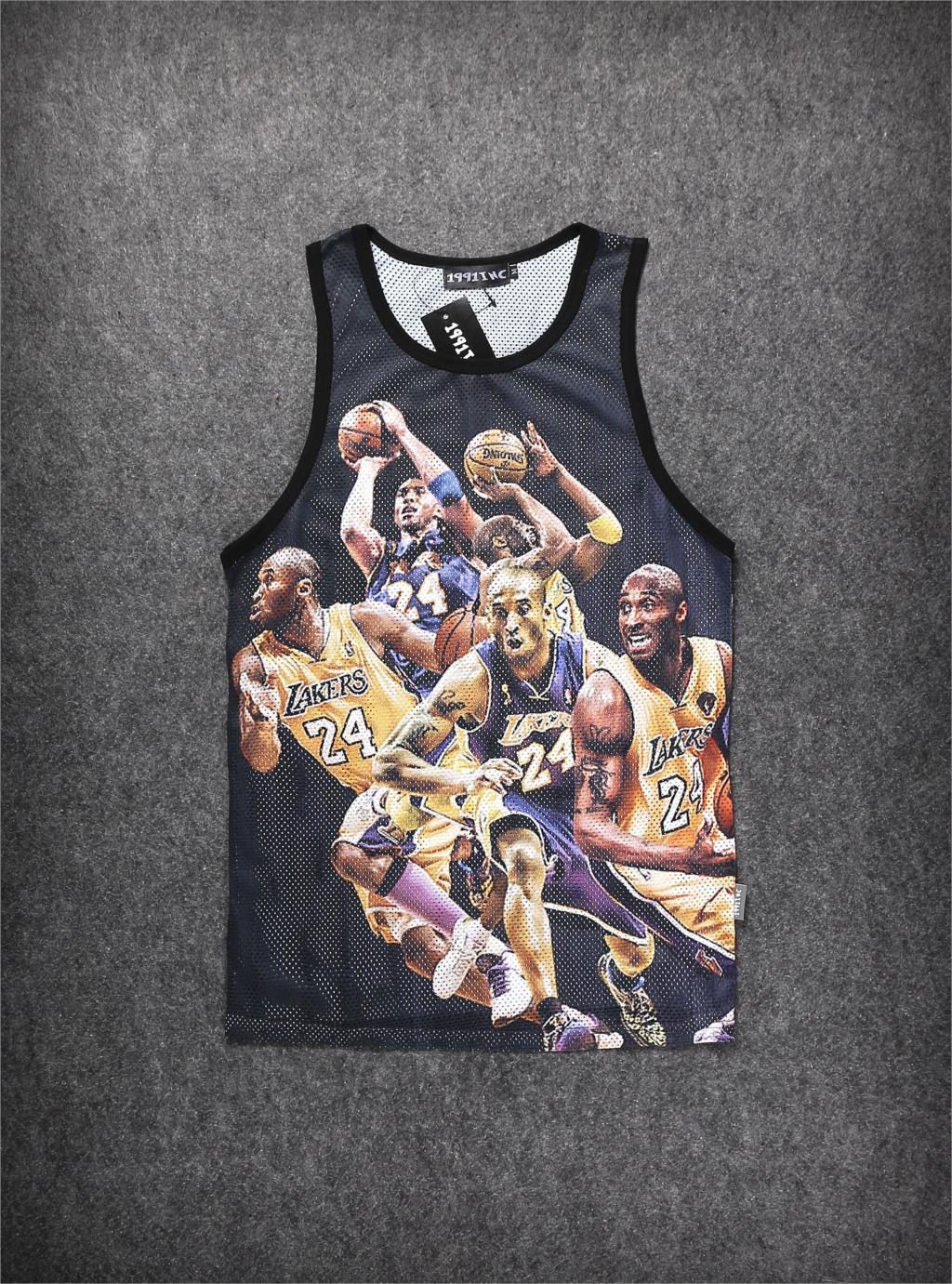 Wow 2015 Mens Sport Tank Top Vest 3D Stars Figure Print Nets Breathe basketball Shoot Sleeveless Gym Tanks Tops - O M G HIP HOP STREET WEAR ONLINE STORE store