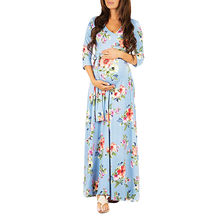 JAYCOSIN Pregnant Woman Summer Dress Party Print Wrap Maternity Adjustable Belt Multi-function Red Dress For a Photo Shoot z0308(China)