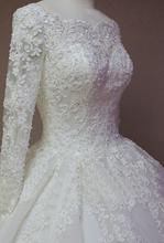 Free veil robe de mariage White Ivory us2.4.6.8.10.12.plus Size Wedding Dress Wigh Long Sleeve Muslim vestido De noiva 2016(China (Mainland))