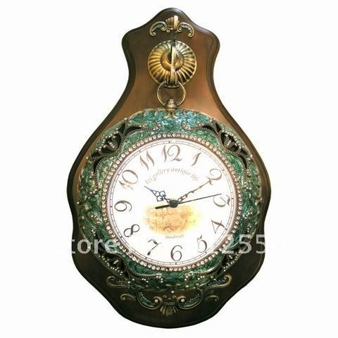 popular clock wall solid wood imitation antique clock