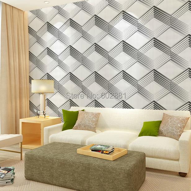 Modern Trellis Wallpaper: #6258 3D Modern Geometric Wallpaper,Herringbone Trellis
