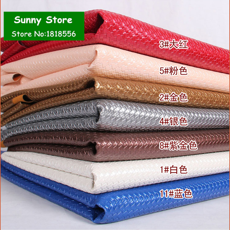 2016 New Faux PU Leather Fabric Weave Pattern Embossed Synthetic Leather PU Artificial Leather Cloth For Sewing Accessories Diy(China (Mainland))