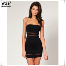 Summer Style Women Party Sleeveless Strapless Bodycon Dress Short Mini Striped Bandage Sexy Nightclub Hollow out Lace Dresses(China (Mainland))