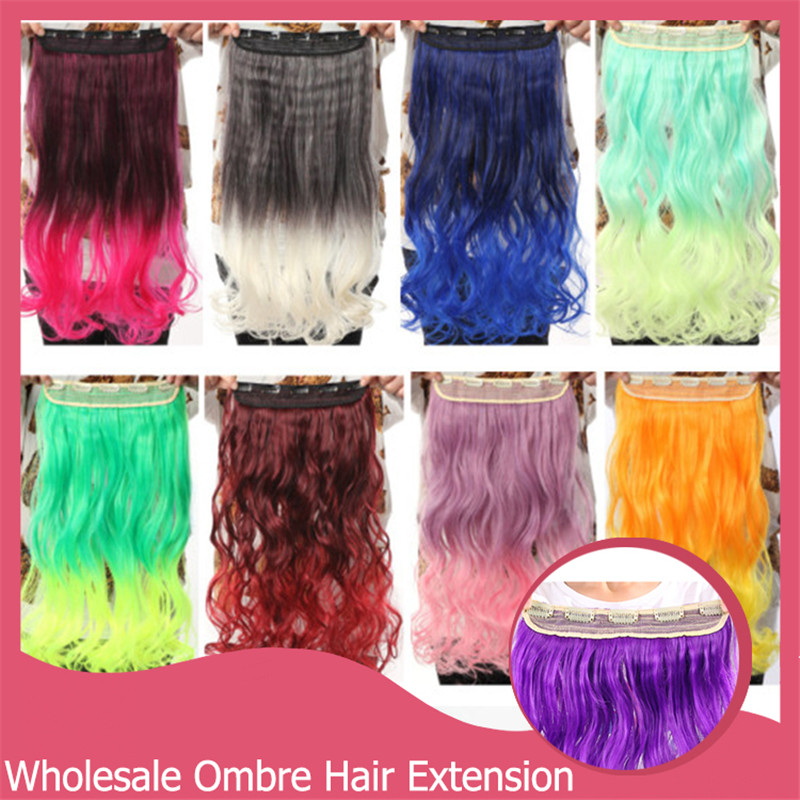 1Pcs/Lot Long Multicolor Wavy Curly Clip In Hair Extension Extensions Heat Resistant Women Ladies For Party Xmax Gifts 888<br><br>Aliexpress