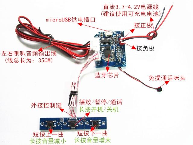 Batch / support 4 Bluetooth audio receiver DIY Bluetooth Handsfree Bluetooth audio power amplifier module(China (Mainland))
