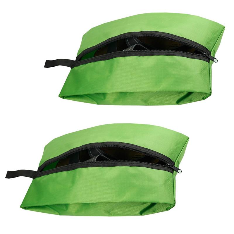 4pcs/lot Portable Waterproof Nylon Storage Bags Travel Shoe Bags Zipper Closure Shoe Rack Hanger Storage Tidy Organizer(China (Mainland))