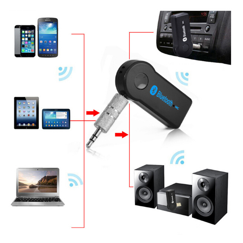 2017 Wireless Car Bluetooth Receiver Adapter 3.5MM AUX Audio Stereo Music Hands-freeHome Car Bluetooth Audio Adapter(China (Mainland))