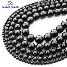 Buy Natural Stone Round Black Onyx Beads 4 6 8 10 12 14MM DIY Man Bracelet Necklace Gif beads jewelry making Jewelry Accessories for $3.61 in AliExpress store