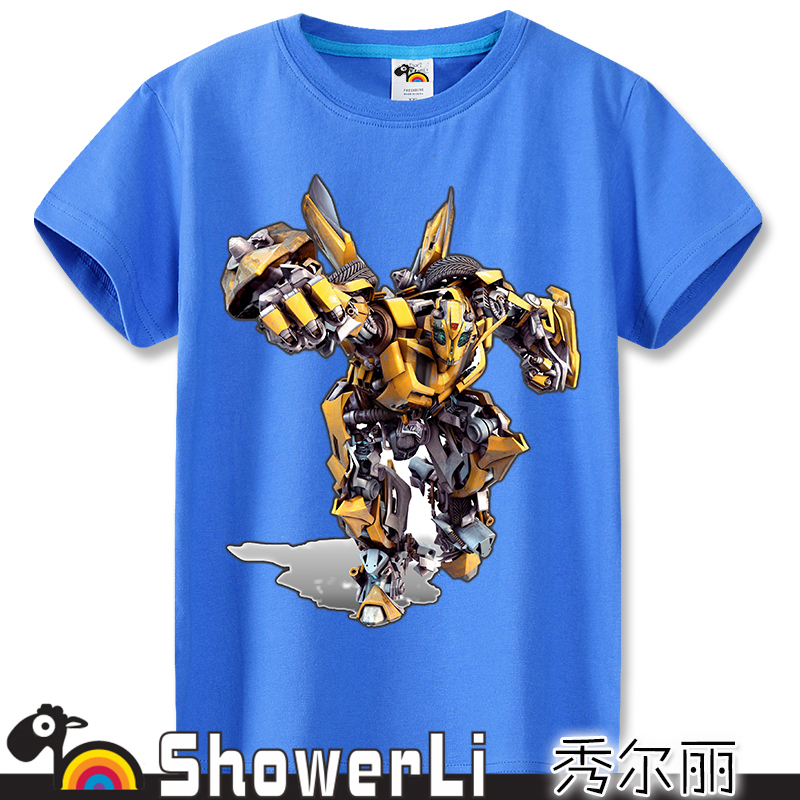 short sleeve children t shirt, boys girls t shirt kids wear bxjgB ultron yellow clothes hulk iron man thor captain American(China (Mainland))