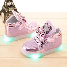Neue nette cartoon-baby sneaker hallo kitty stil wasserdichte sneaker schuhe für 9-24 Mt baby neugeborene infantil Outdoor schuhe heißer(China (Mainland))