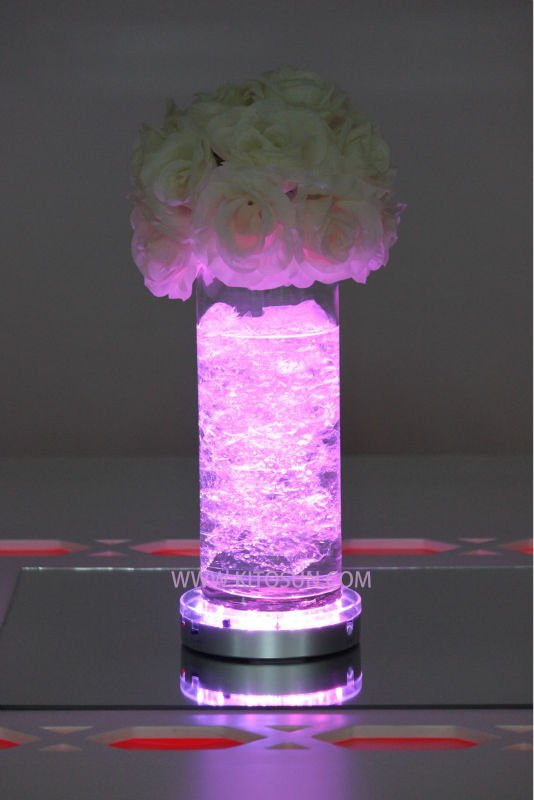 Battery operated remote controlled multi-colors LED Under vase lights/centerpieces Lighting(China (Mainland))