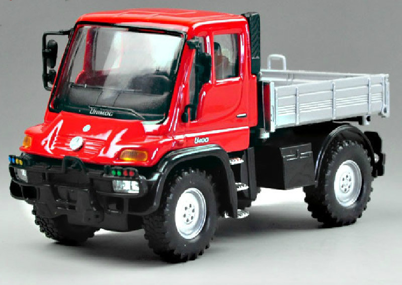 1:36 For Unimog U400 Red Scale Car Model Alloy Diecast Car Toy Collection Boys Toys(China (Mainland))