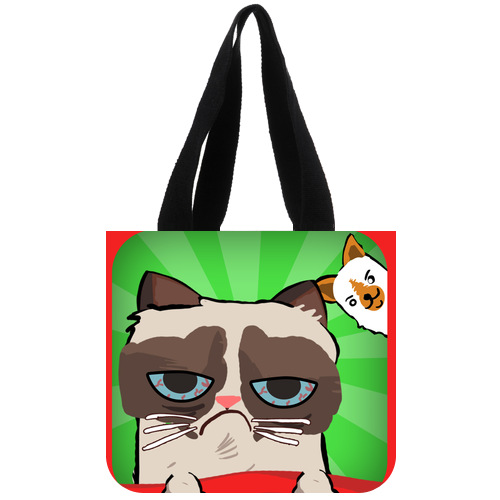 Original Shopping Bag Personalized Unhappy Cat Tard the Grumpy Cat Tote Bag 02(China (Mainland))