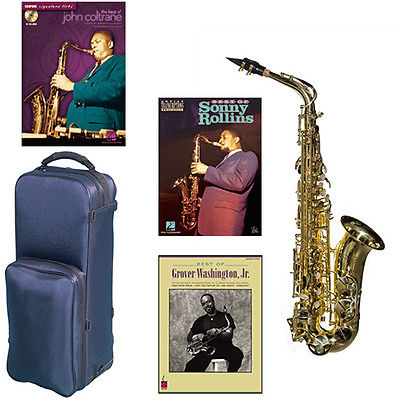 Virtuoso Series Professional Alto Saxophone Clear Lacquer w/3 Pack of Books(China (Mainland))