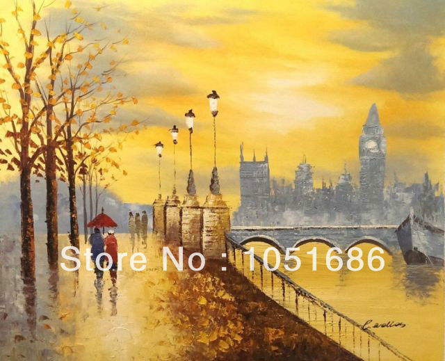 Paintings City Scenes City Scene Oil Painting on