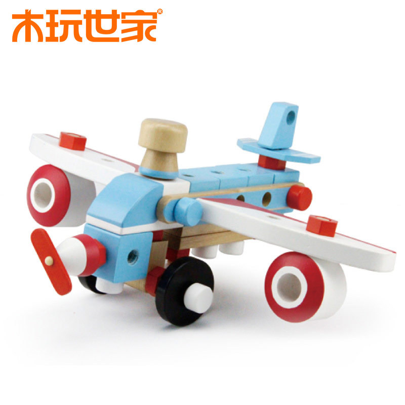 New Arrival Mini Plane Wood Airplane Model Children Earlier Educational Wooden Toys High Quality Baby Birthday Gift(China (Mainland))