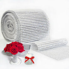 Mesh Trim  Bling Diamond  Wrap Cake Roll tulle 1 yard/91.5cm Crystal Ribbons  Party Wedding  Decoration event party supplies(China (Mainland))