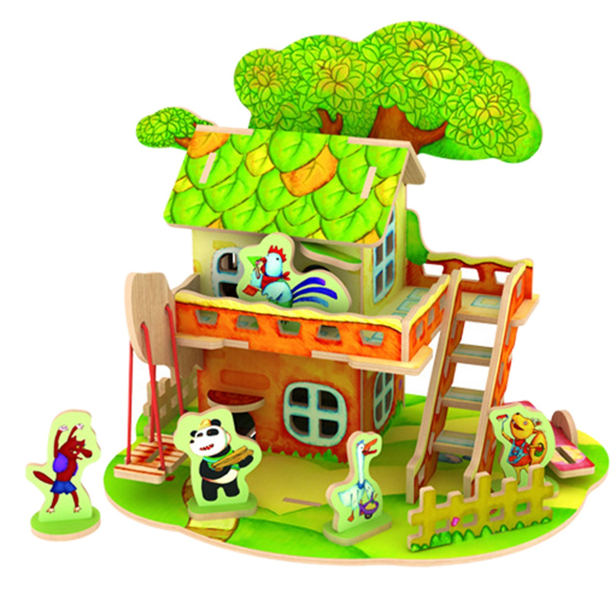 Robotime 3D Wood Jigsaw Puzzle DIY Model Forest Cabin(China (Mainland))