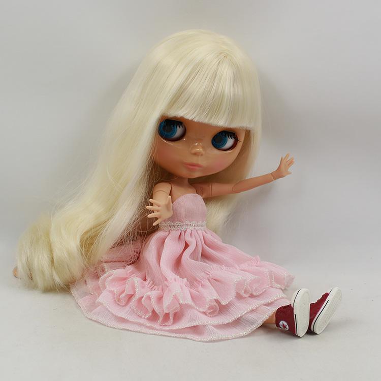 Фотография 2015 newest Nude Blyth 12 fashion dolls bjd doll joint body yellow long hair with bangs japanese fashion dolls for kids