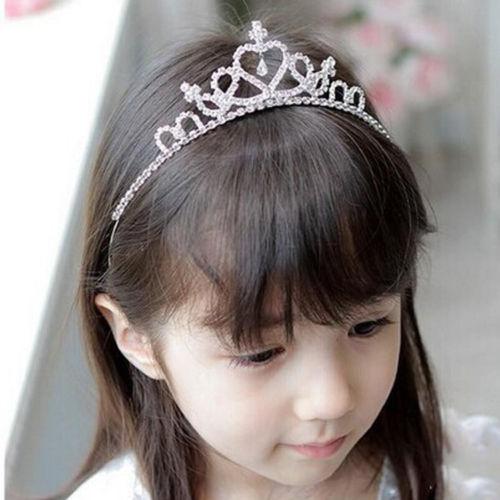 1 шт. Горный Хрусталь Кристалл Тиара Волос Группа Малыш Девушка Свадебные Принцесса ...