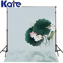photo studio backdrop baby Elegant lotus painting 5x7ft (150x220cm) customized size kate background