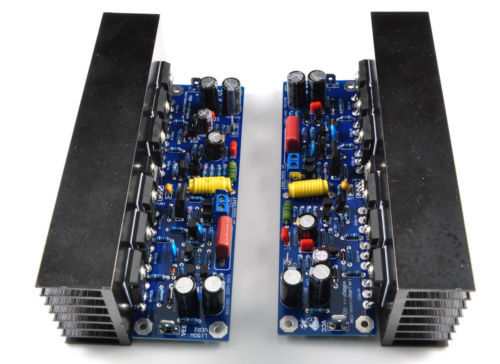 Assemble Dual channel L150W FET Power Amplifier Board IRFP240*6 with Radiator(China (Mainland))