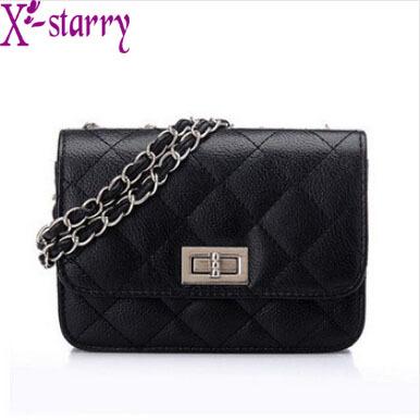 2015 X-starry! free shipping hot wholesale fashion women's handbag elegant shoulder bag small plaid chain messenger bag HL150(China (Mainland))