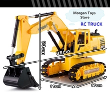 New RC engineering vehicles toys,1:24 Wireless Excavator , 8 channel remote control, excavator truck, free shipping(China (Mainland))