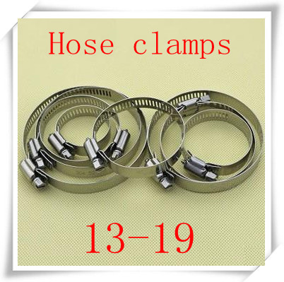 100pcs/lot  high quality  stainless steel  Hose Clamps size 13-19mm<br><br>Aliexpress