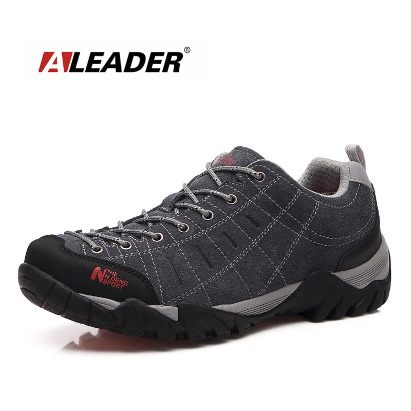 Waterproof Men Women Leather <font><b>Hiking</b></font> <font><b>Shoes</b></font> Low New 2015 Sport Sneakers for Man Womens Outdoor <font><b>Shoes</b></font> Trekking sapatos masculino