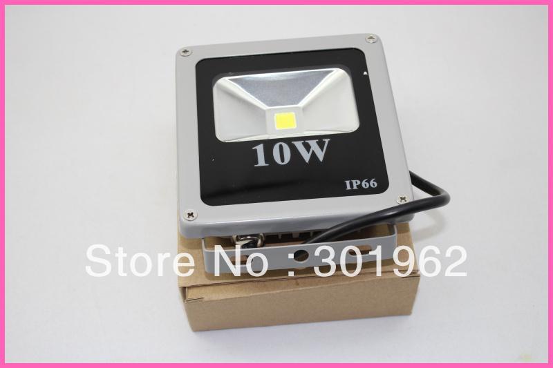 10pcs/lot 10W Warm White/White LED Flood light Waterproof Outdoor Lights Grey Case(China (Mainland))