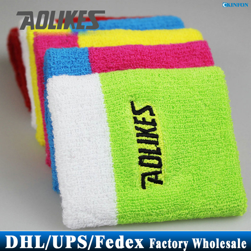 DHL/Fedex/UPS 1000pcs/lot A-0233 Wristbands Hand Towel Wrist Support For Tennis Basketball Sports Sweatbands Cotton Wrist Bracer(China (Mainland))