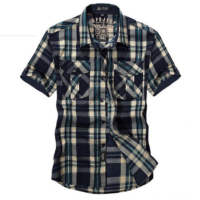 Рубашки Большой размер m-xxxl летом мужская 100% хлопка плед платье майки топы с ...