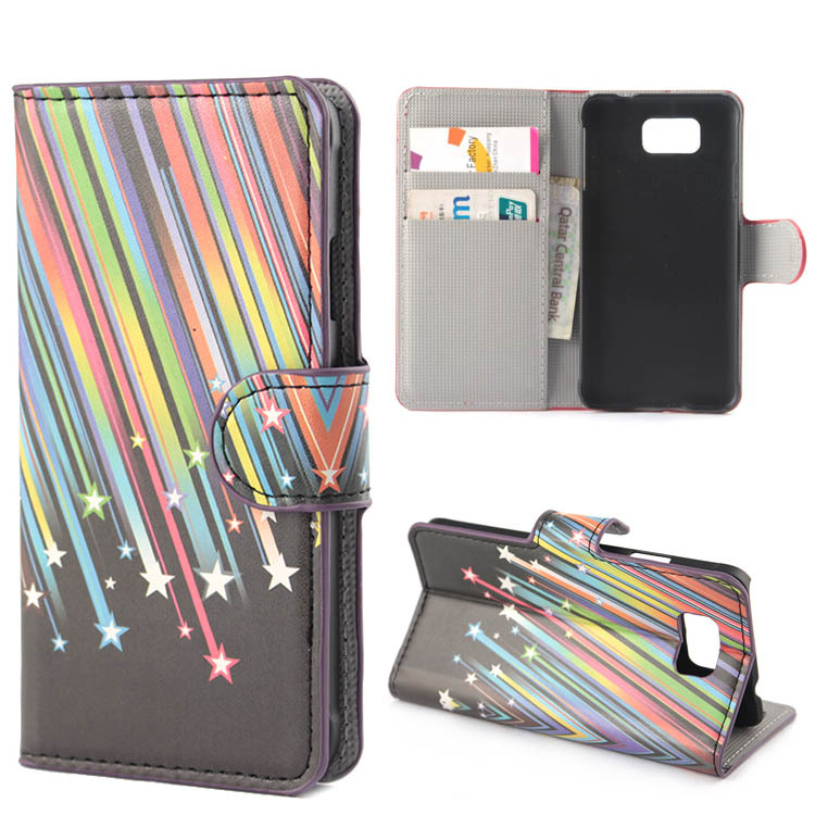 Meteor Star PU Leather Flip Stand With Card Slots Cover Case For Samsung Galaxy Alpha G850 G850F(China (Mainland))
