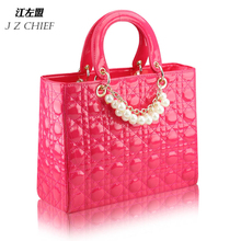 Discount !! women's handbag plaid fashion bridal bag marry party beading shoulder bag PU leather women party bag(China (Mainland))