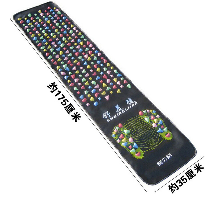 175*35Cm Colorful Plastic Foot Massage Pad Medialbranch Pad Chinese Health Care Walk Stone Square Healthy Foot Massage Mat Pad