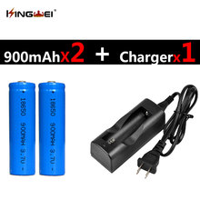 Buy 2Pcs Blue 18650 Batteries 3.7v 900mah Rechargeable Lithium Li-ion Battery + 1pc NK-803C 18650 Charger US/EU Plug for $8.98 in AliExpress store