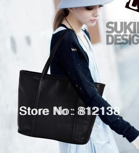European and American big bag shoulder bag PU bag tide bag ladies diagonal package wholesale handbag ,HS-BAG006